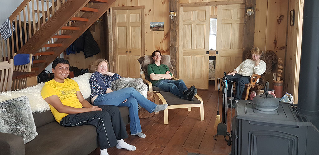 cabin lounging at Little Lake