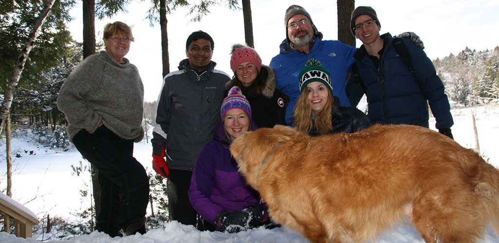 ourdoor group at Little Lake